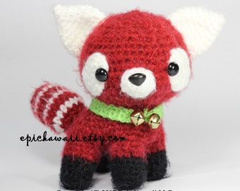 PATTERN: Jasmine the Red Panda Cub - Teacup Pet Collection Crochet Amigurumi Doll