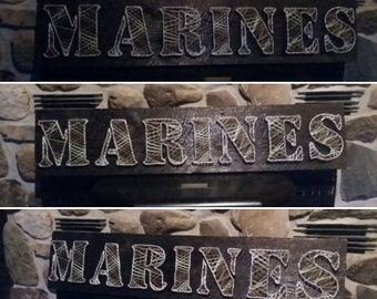 Marine Corp. string art made to order! Free shipping