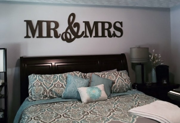 Mr mrs wood letterswall dcor painted wood letters wall zoom ppazfo