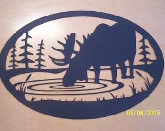 Moose metal art laser cut silhouette