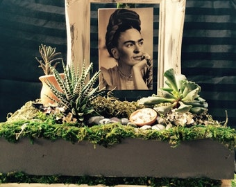 Attractive Frida Floating Frame Planter /Frida Planter/Frida  Lover/patio/centerpiec/plants Photo