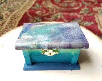 Seafoam Keepsake Box for Trinkets & Treasures