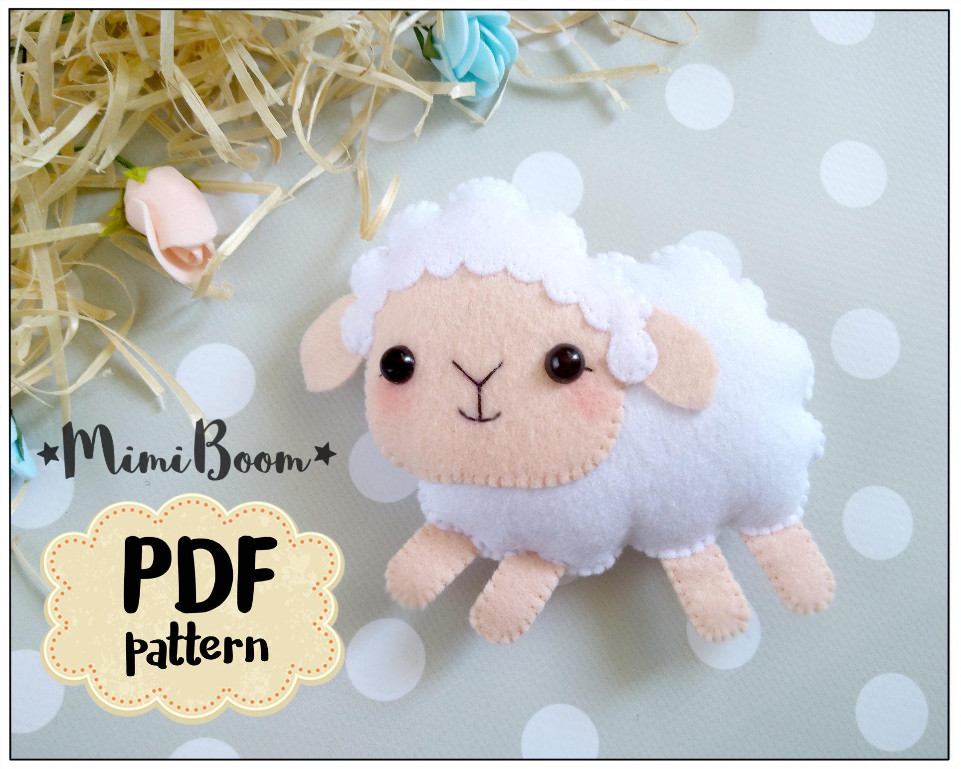 Felt sheep pattern felt sewing sheep pdf tutorial sheep diy zoom jeuxipadfo Images