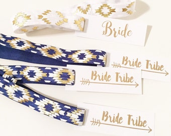 Bride Tribe HEADBAND Favors | Boho Bachelorette Headband Favors, Tribal Print Headbands, Aztec Tribal Boho Bohemian Headband Party Favors