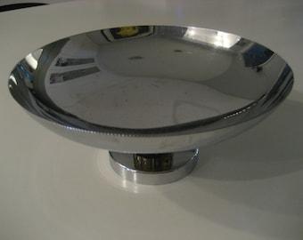 Vintage Stainless Steel Farberware Pedestal Bowl