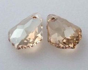 SWAROVSKI 6090 Baroque Crystal Pendant GOLDEN SHADOW