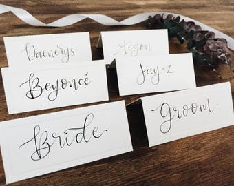 Place Cards in Custom Calligraphy