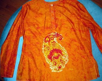 paisley silk top.
