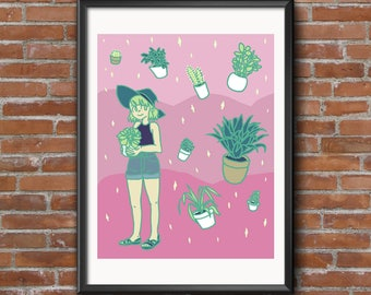 Spring Plant Witch Print UNFRAMED