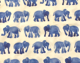 custom baby burp cloth~ blue watercolor elephants~premium 6 ply cloth diaper burp cloth~baby accessories~burp cloths from lillybelle designs