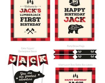 DIGITAL FILES Camping Party Decorations, Camping Birthday, Camping Theme, Lumberjack Party Decorations, Lumberjack Birthday