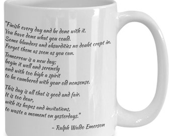 Finish every day inspirational mug