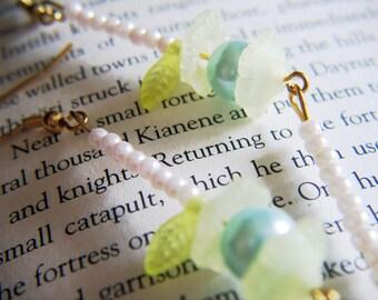 Pearl lantern earrings