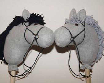 Gray Stick Horse