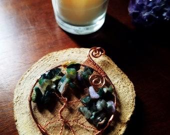 Fancy Jasper Tree of Life pendant