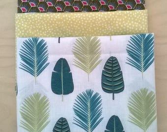 Set of 3 cut of fabric 50 cm x 50 cm