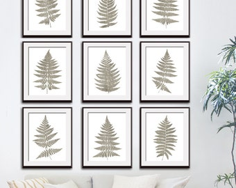 Fern Fantasy Impressions (Series B9) Set of 9 - Art Prints (Featured in Italian Stone) Nature Woodland Inspired