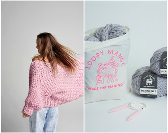 Loopy Mango DIY Kit - Everyday Cardigan - Chunky Merino Wool
