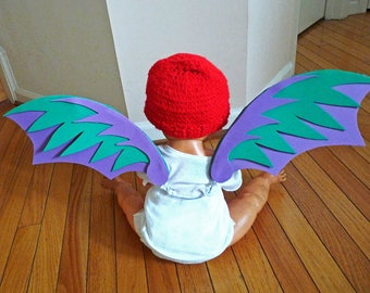 Purple and Green Three-Layer Dragon Wings