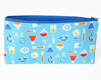 Science Pencil Case, Scientist Gift, Back to School Supplies