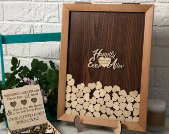 Wedding Guest Book, Alternative Drop Box, Wedding Box Wishes, Guest Book, Guestbook Hearts, Drop Top Box, Guestbook Idea, Guestbook