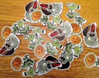 Plants Vesus Zombies (PVZ) Stickers Full Set