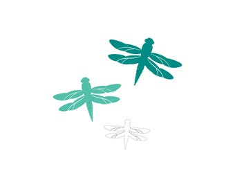 Swarm of Dragonflies Family Car Decal