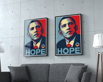 "SALE - Obama Campaign Poster - Barack Obama - ""HOPE"""