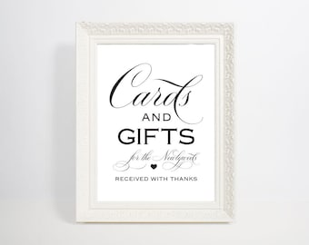 Cards and Gifts Sign, Cards and Gifts Printable, Gift Table Sign, Wedding Printable, Wedding Sign, Template, Instant Download, WPC_83SD4A