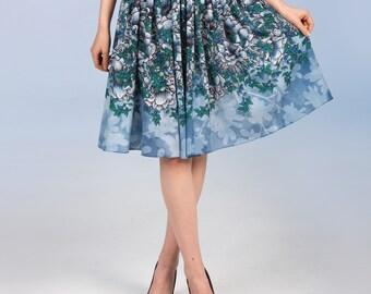 Blueberry Flowers - short skirt