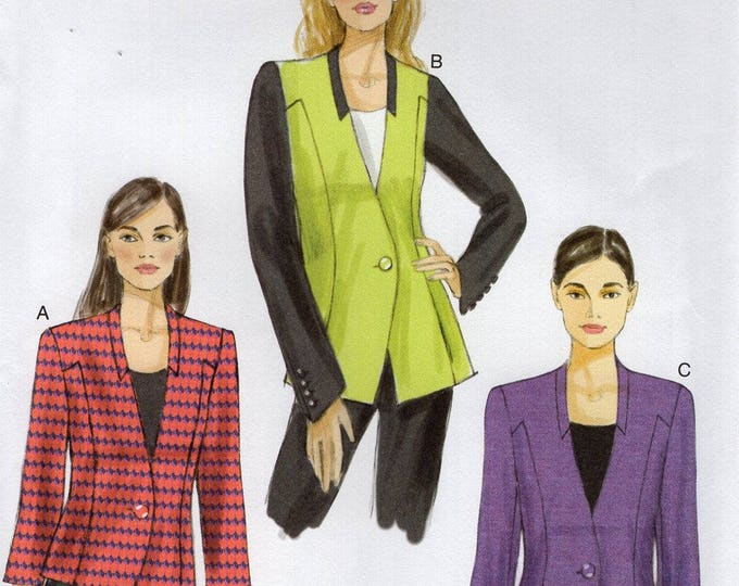 FREE US SHIP Vogue 9039 Sewing Pattern Semi Fitted Jacket  Size 6/14 14/22 Bust 30 32 34 36 38 40 42 44 Uncut New