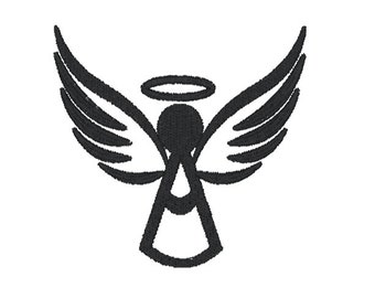 Instant Download Embroidery File Angel with Halo Digitized Embroidery File