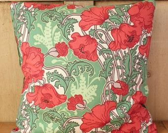 Liberty Of London Clementina Art Nouveau Cushion Cover Green