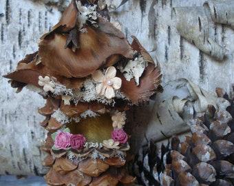 Natural Fairy House, Miniature Unique Fairy Garden House, Terrarium Accesories, Gnome Home, Natural Whimsical Decor, Kids Nature Play