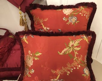 Rare Pure silk pillows set
