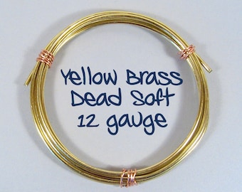 12ga 50ft DS Yellow Brass Wire