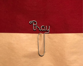 PRAY Wire Bookmark Paperclip