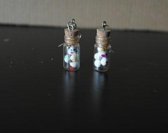 Super Mario Yoshi Egg Bottle Earrings *SALE*