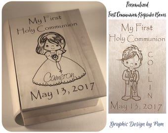 Personalized First Communion Keepsake Boxes