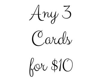Pick any three cards of your choice!