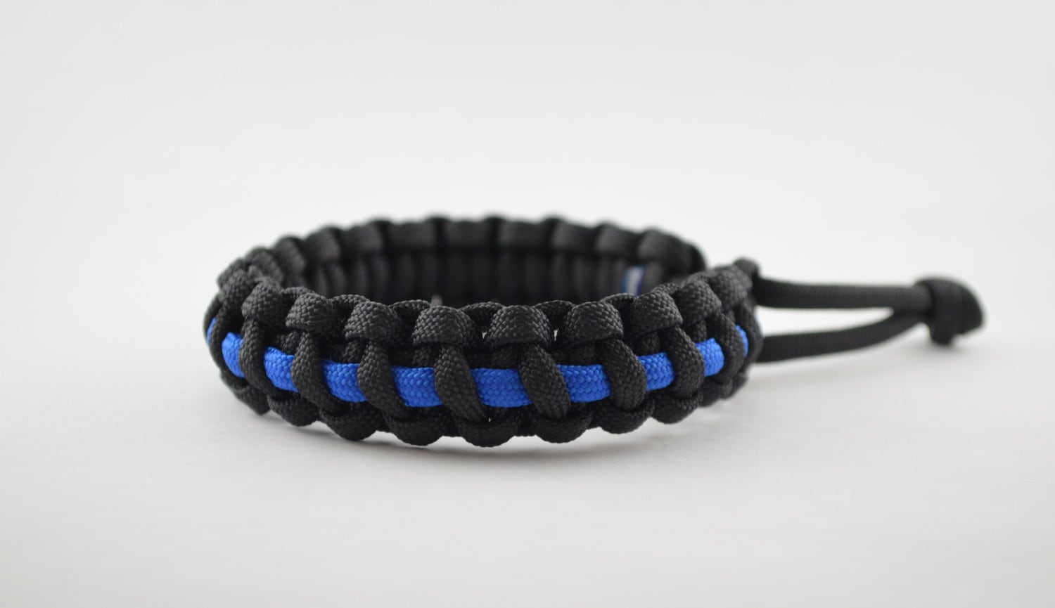 product new line bracelet paracord with detail thin weave available cheap logo custom survival style blue