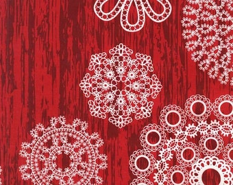 Fabric by the Yard- Knots & Loops in Red-Christmas at Brambleberry Ridge by Violet Craft for Micheal Miller