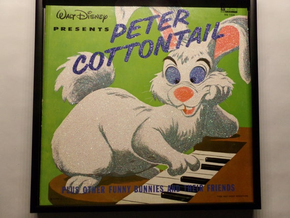 Glittered Record Album - Walt Disney Presents Peter Cottontail