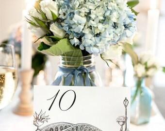 NYC Icon Wedding Table Numbers | New York City Wedding Theme | Set of 10, 15, 20, 25, or 30