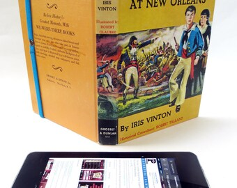 New Orleans Themed Case for iPad Mini, Made from 1957 Book about Jean Lafitte, Fits Kindle Fire and HD, Nexus 7, Nook Color, Galaxy Tab Too