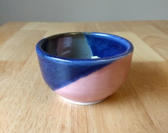 Pink and blue wee bowl