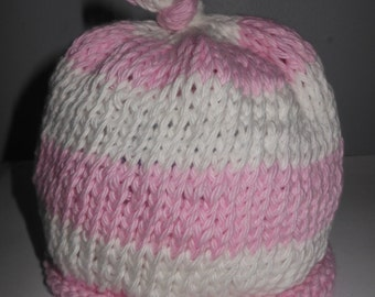 Handcrafted Pink Knitted Hat several sizes available
