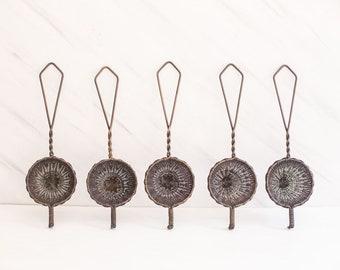 Antique Brass Woven Tea Strainer
