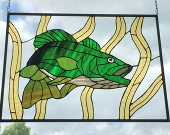 "Stained Glass Large Mouth Bass - ""The Lunker"""