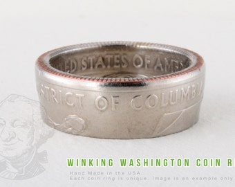 COIN RING - District of Columbia - Handmade in the USA - All Sizes Available